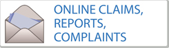Claims, reports or complaints